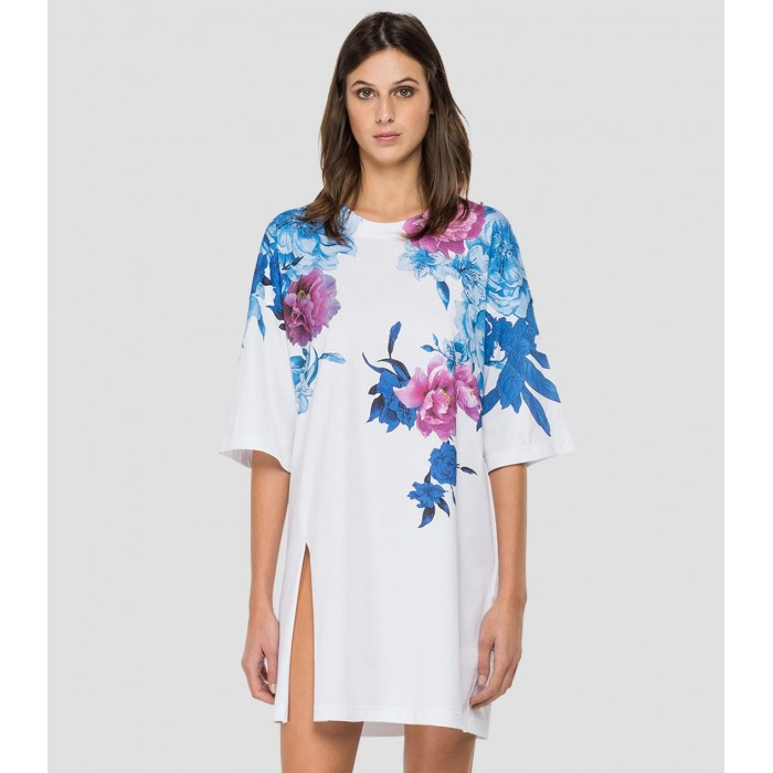 White short dress rose...