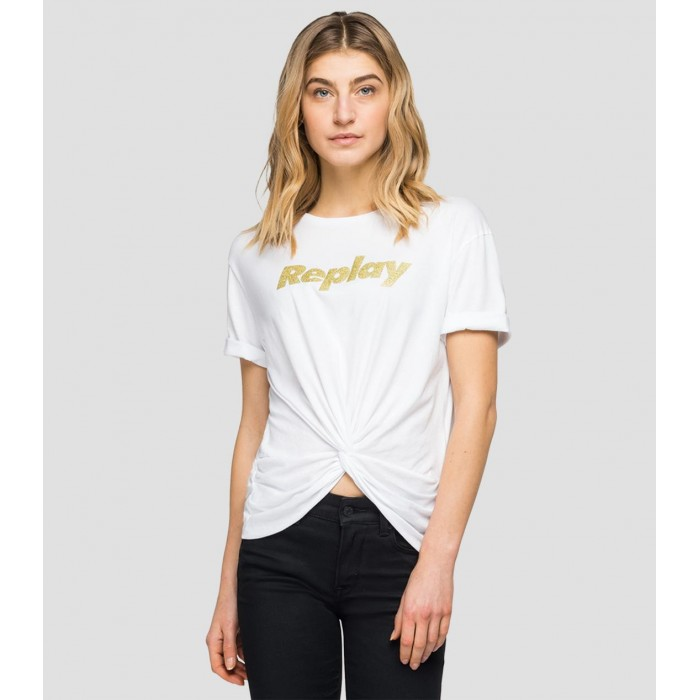 White Cotton T-Shirt Women...