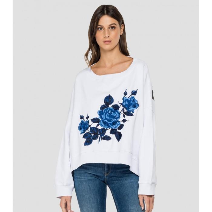 White Cotton Sweater-...