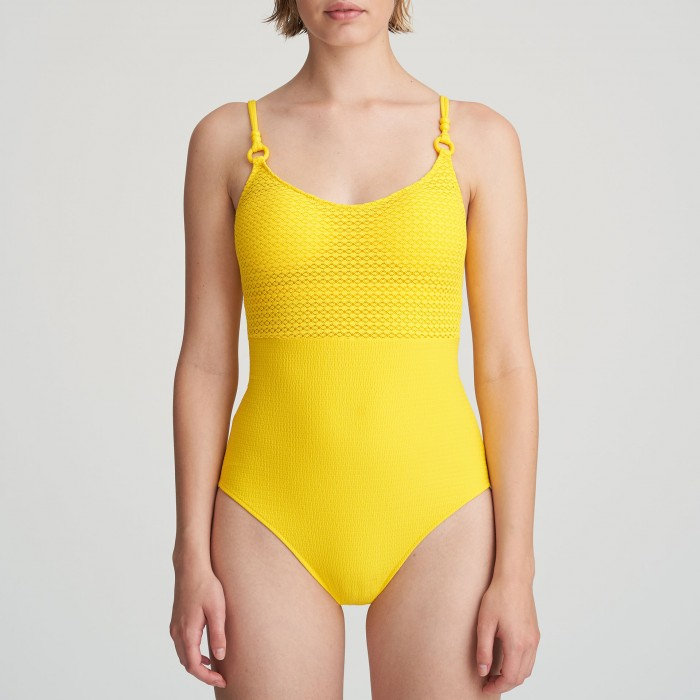 Bañador mujer amarillo con...
