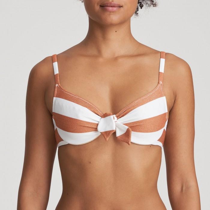 Striped wired White Bikini...
