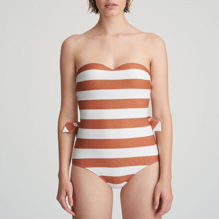 Striped bandeau padded...