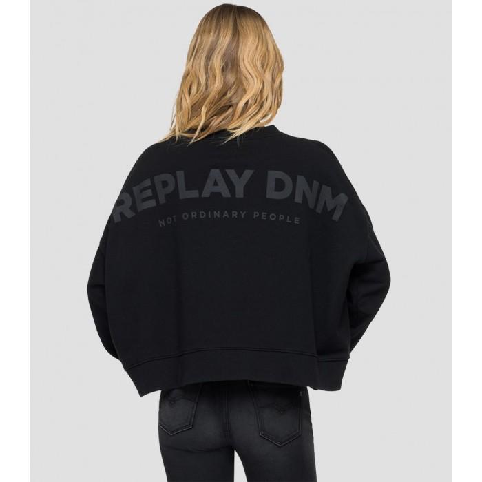 Black sweatshirt cotton...