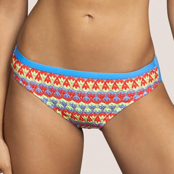 Striped crochet bikini...