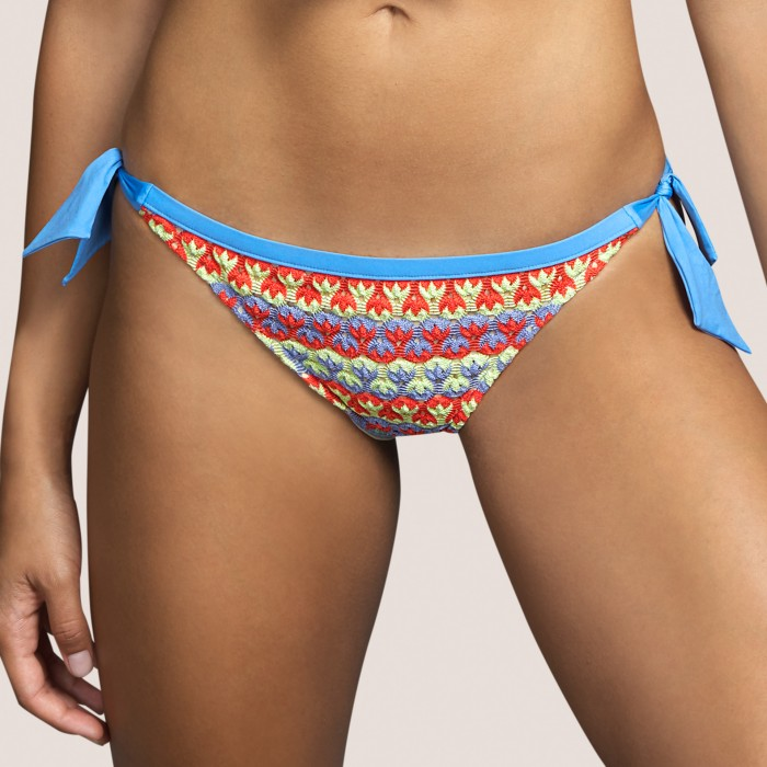 Tie bikini brief yellow ,...