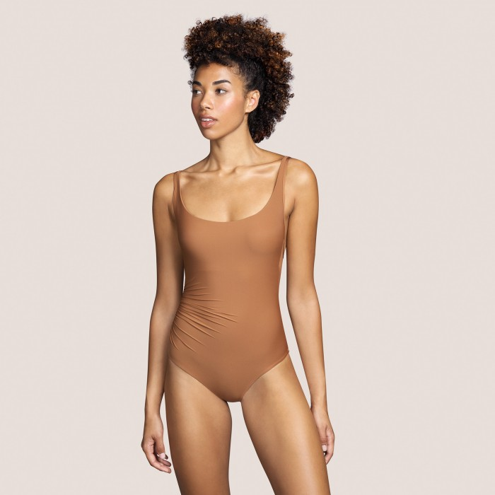 Brown padded swimsuit...