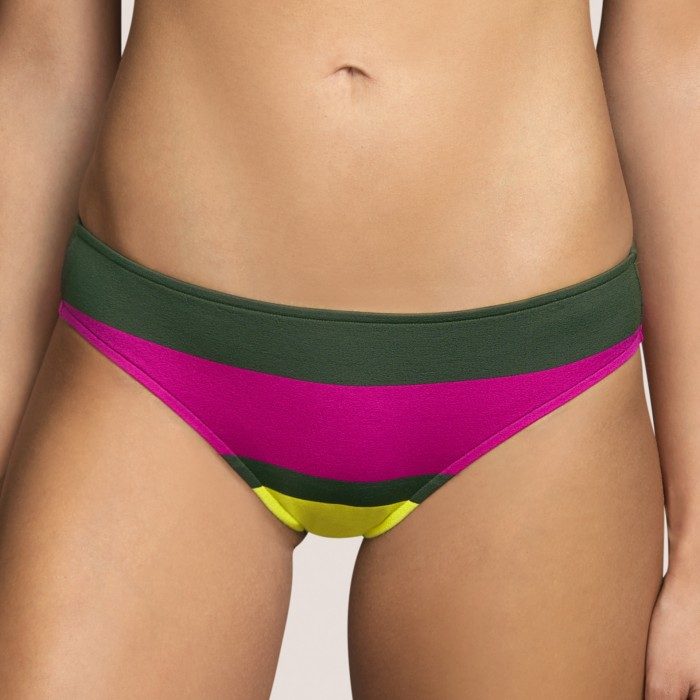 Green striped bikini brief...