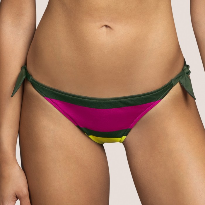 Green striped tie bikini...