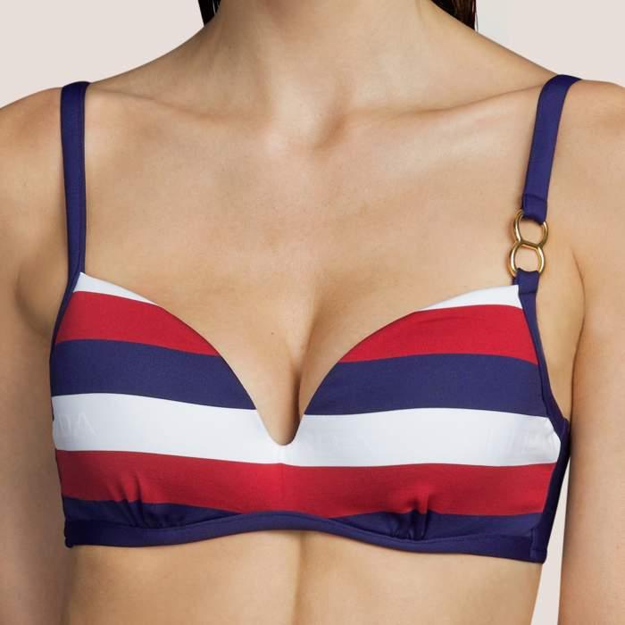 Bikini azul rayas ANDRES SARDA, bikini con relleno y aros - Megan Azul Bikinis con aro Baño mujer 2021