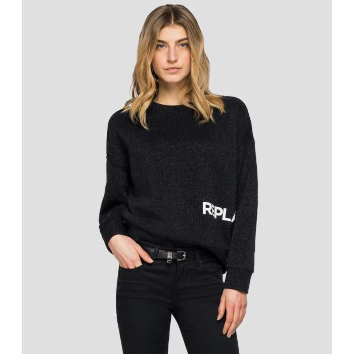 Sweatshirt black lurex...