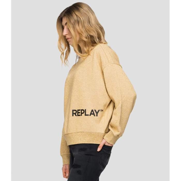 Sweatshirt gold lurex...