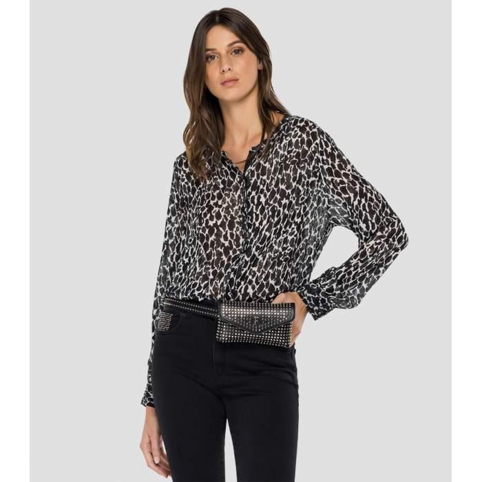 Camisa animal print viscosa...