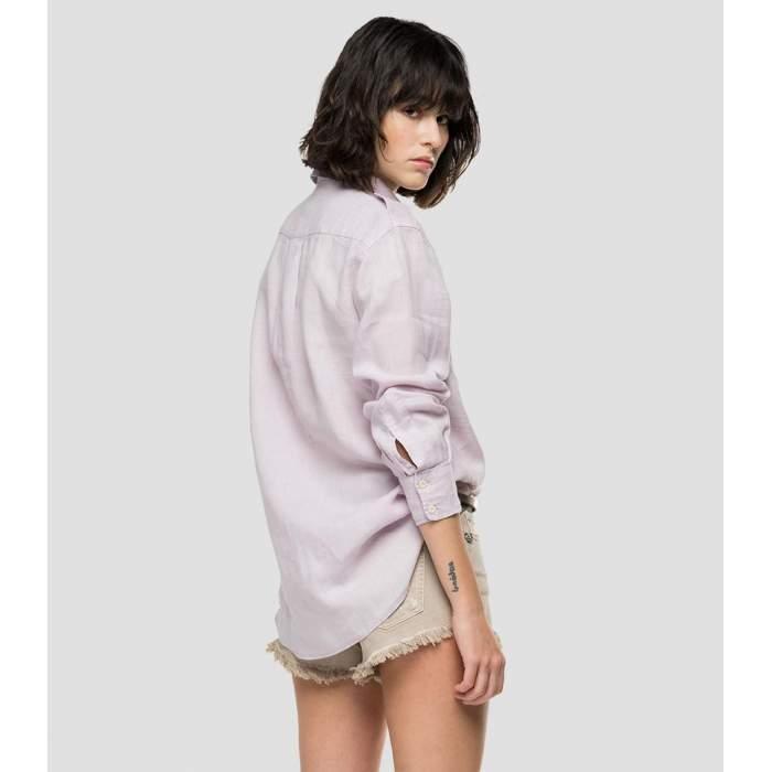 Camisa lino quarzo rosa...