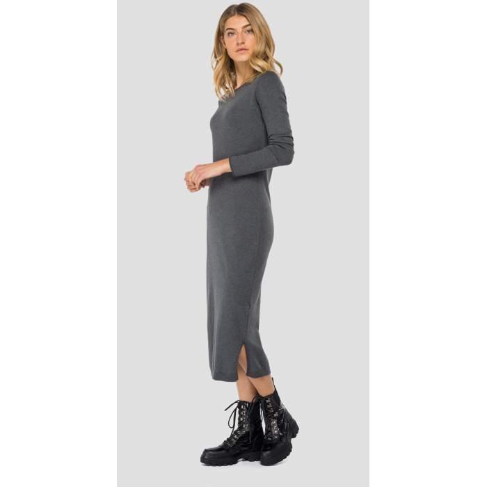 Long dress grey cotton...