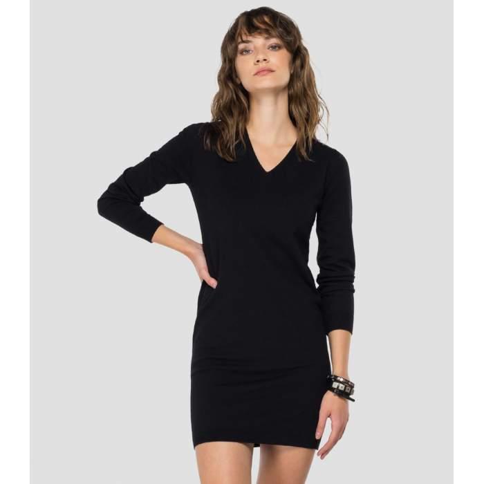 Vestido negro de algodón...