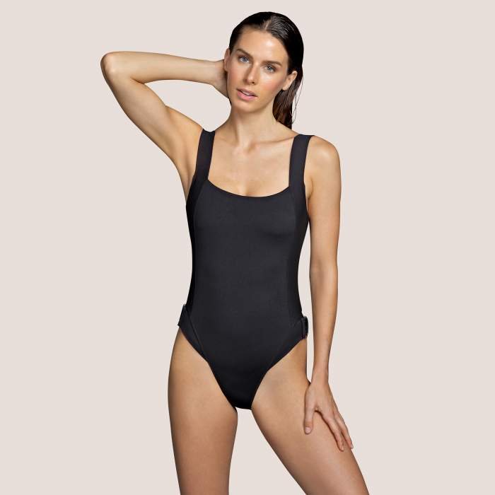 Bañador negro Andrés Sardà, bañador almohadillas extraíbles- Kathryn Negro Bañadores con relleno Baño mujer 2021