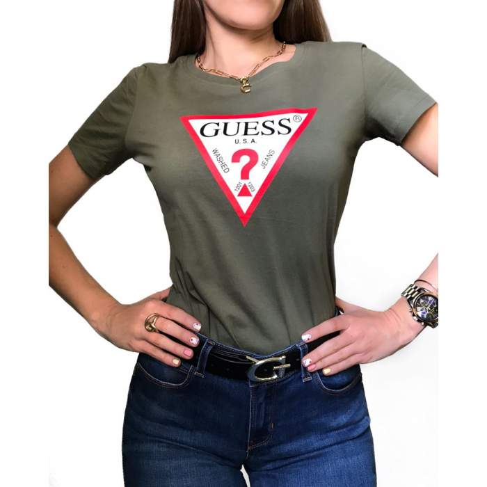 T-shirt vert olive logo...