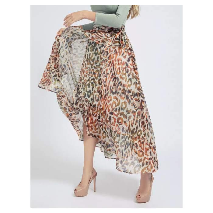 Falda larga animal print...