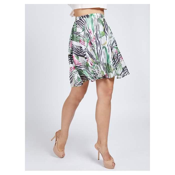Tropical short flared skirt...