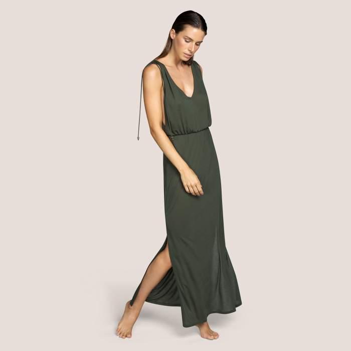 Vestido verde largo baño Andrés Sarda- BIBA Verde Vestidos Baño mujer 2021