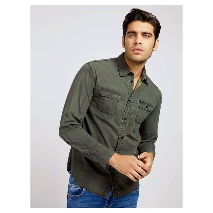 Green pockets shirt Guess...