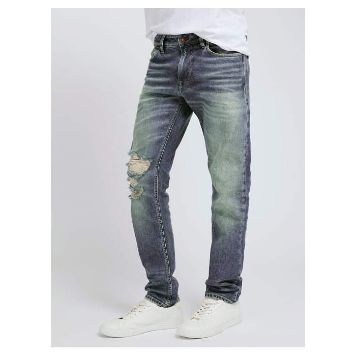 Denim jeans with rips Guess...