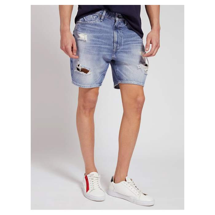Short denim with rips Guess...