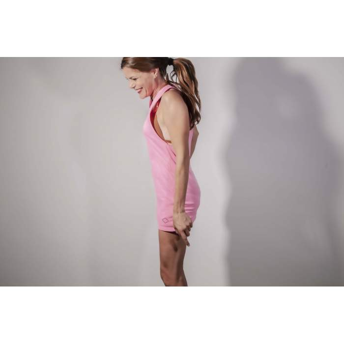 Pink fluo cotton tank top...