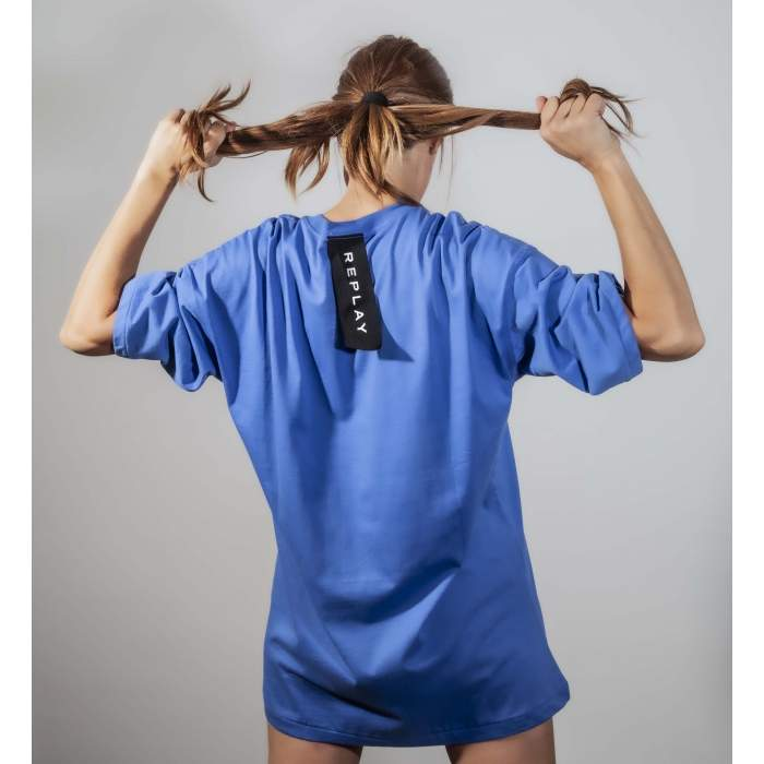 Long T-shirt dress blue...