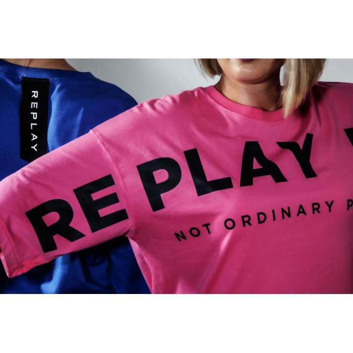Camiseta rosa maxi logo...