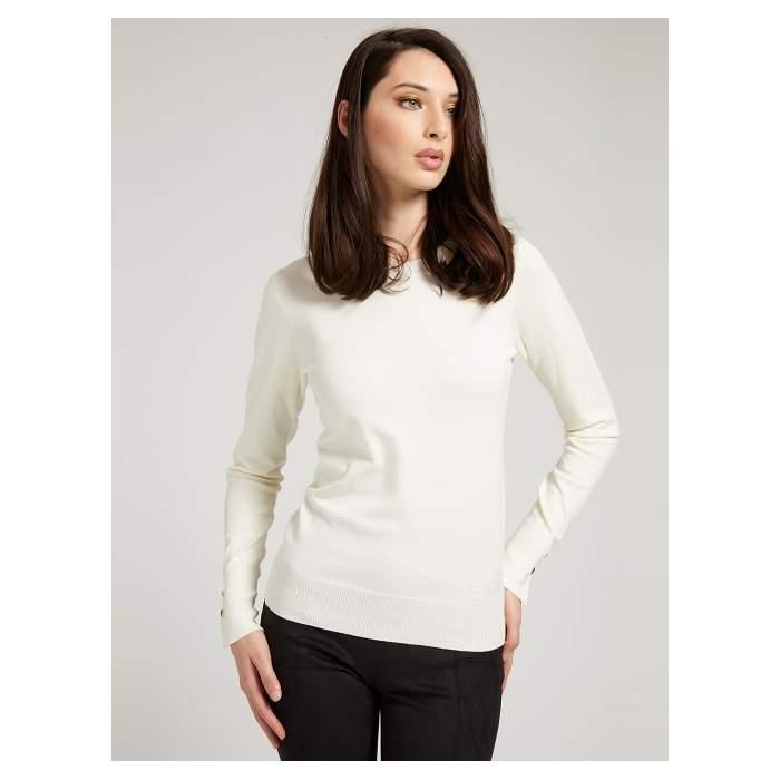 White Sweater Long Sleeve...