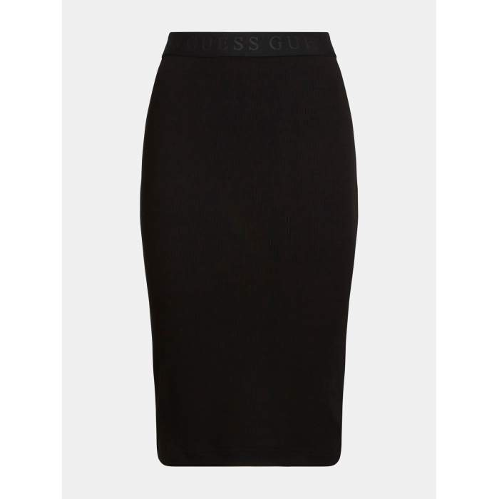 Falda negra longuette...