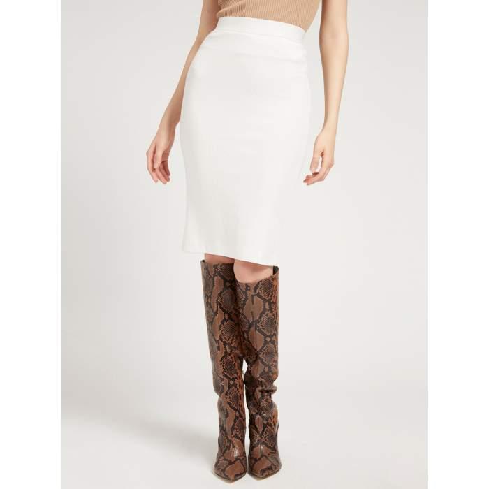 Falda blanca longuette...