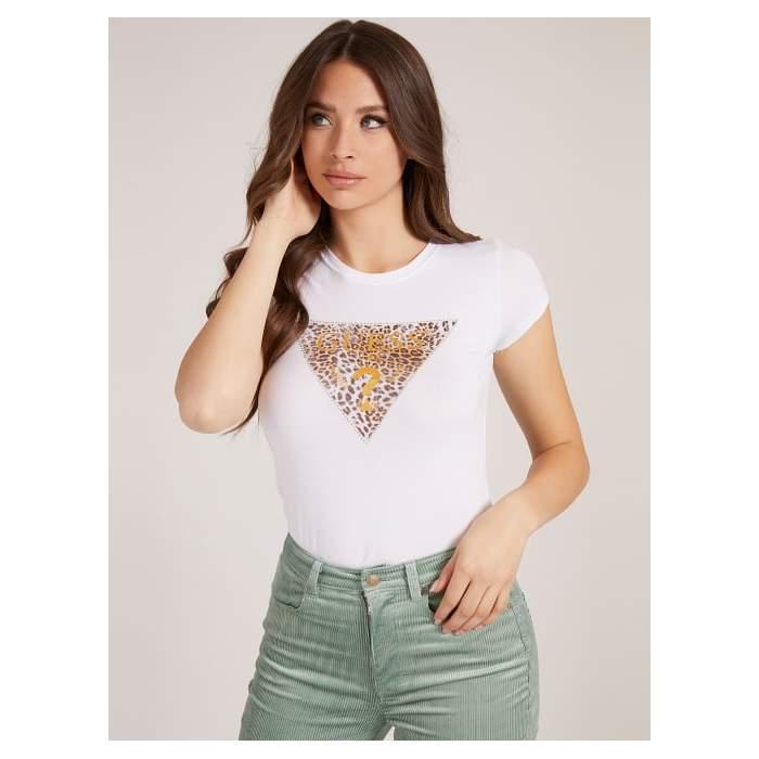 White T-shirt animal...