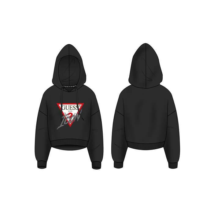 Black hoodie triangle logo...