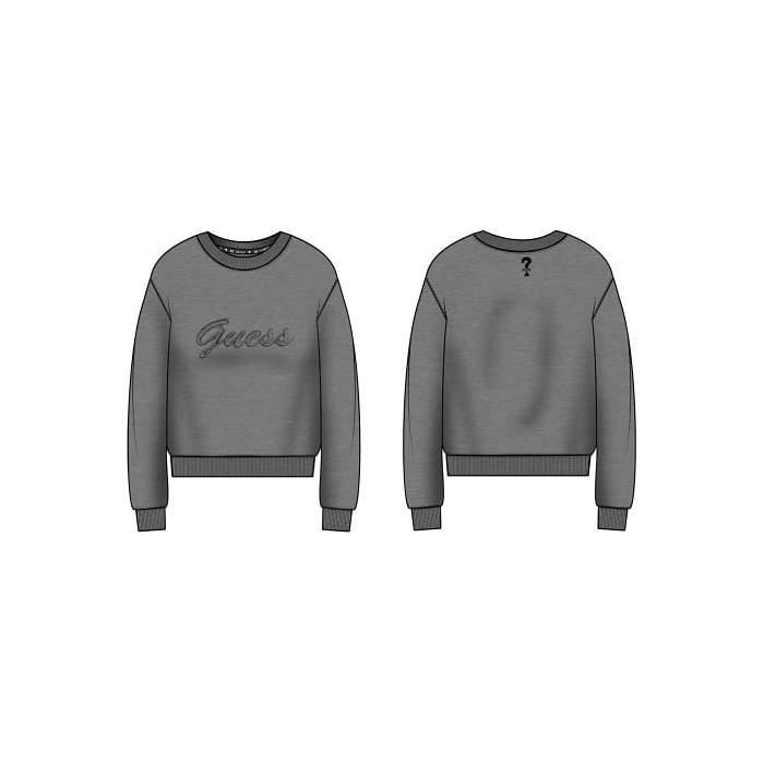 Sweat-shirt gris en peluche...