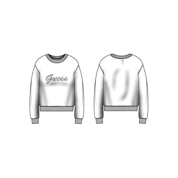 Sweat-shirt blanc en...