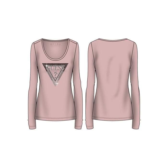 Camiseta rosa logo triangle...