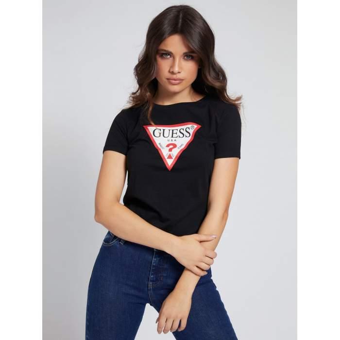 Black T-shirt triangle logo...