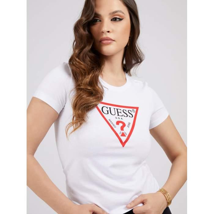 T-shirt blanc logo triangle...