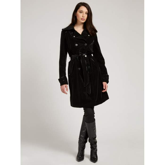 Women's black trench coat...