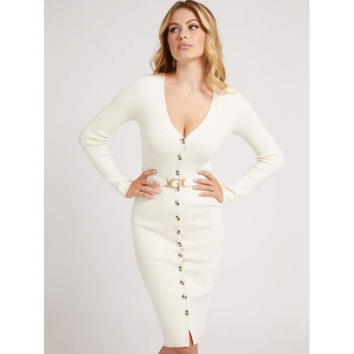 Vestido Guess blanco midi...