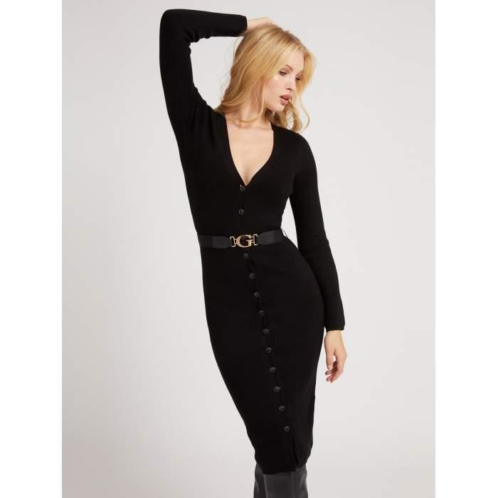 Vestido Guess negro midi...