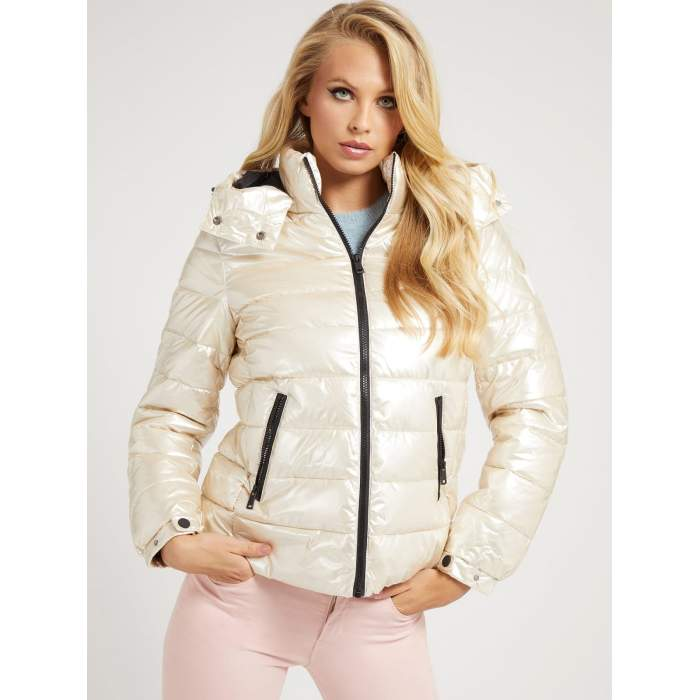 Guess white puffer jacket...