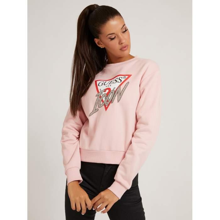 Sudadera rosa logo triangle...