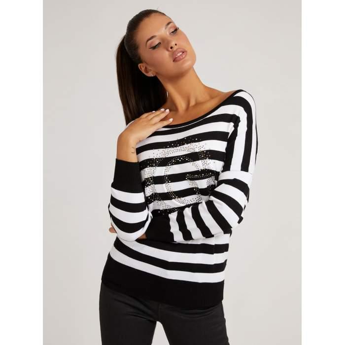 Black and white striped...