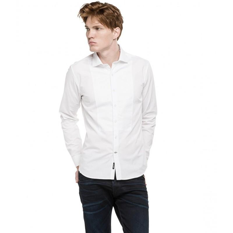 MEN - WHITE - SHIRTS - REPLAY