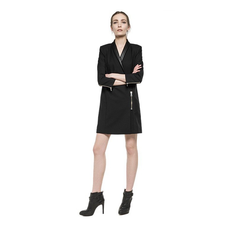 BLACK SHORT SUIT DRESSES-Replay- Women