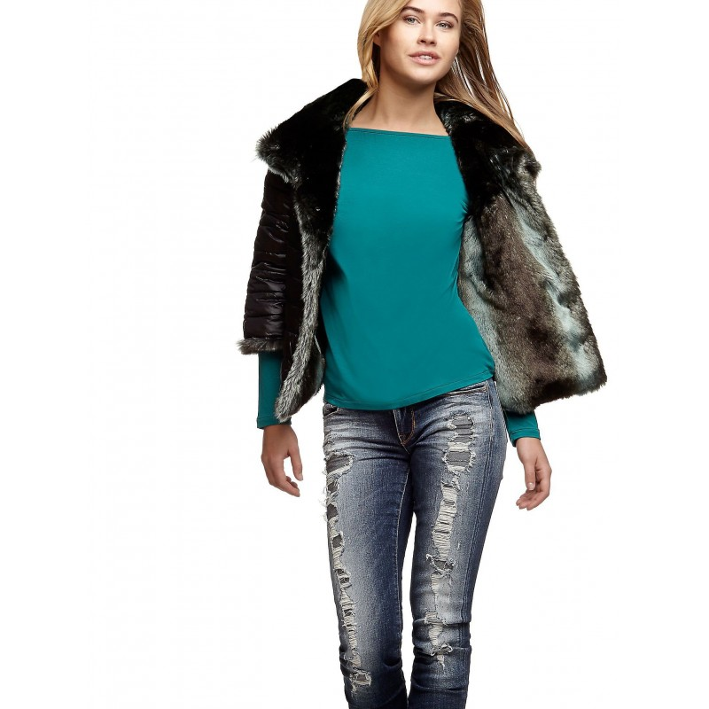 JACKETS ecoleather- GUESS WOMEN-2 in 1