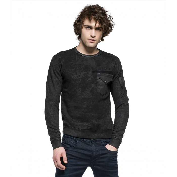 DARK GREY COTTON SWEATSHIRT...